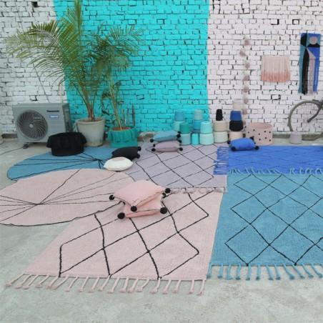 Tapis Trace Vintage Nude, lavable en machine par Lorena Canals