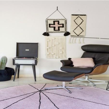 Tapis Moderne Trace Wood Rose par Lorena Canals