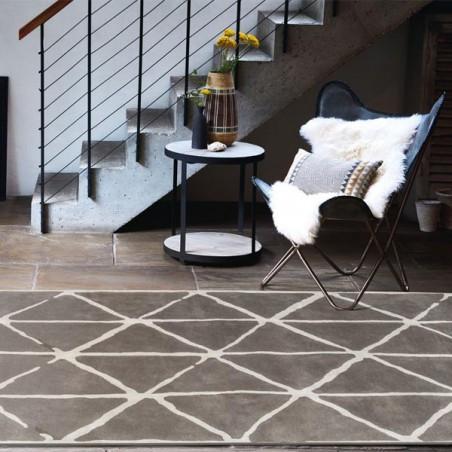 Tapis de salon design Haldon gris ardoise collection Villa Nova par Louis De Poortere