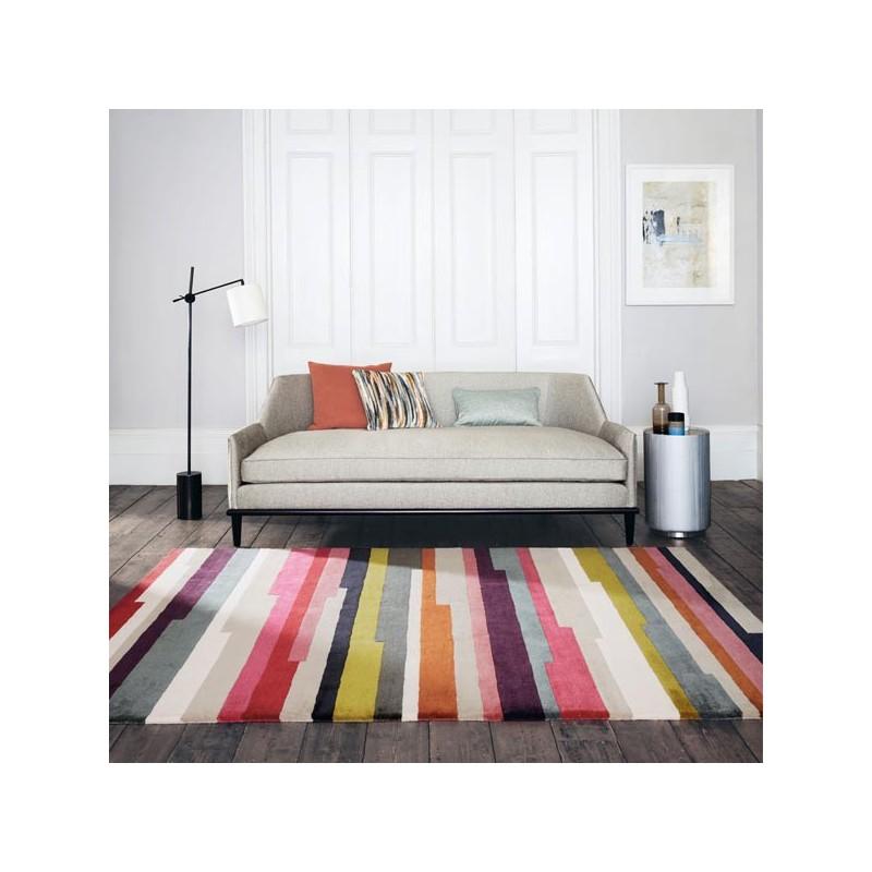 Tapis de salon design Clarice multicolore collection Romo par Louis De Poortere