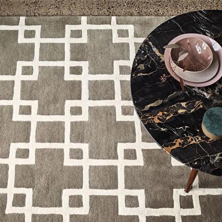 Tapis de chambre design Cubis umber collection Romo par Louis De Poortere