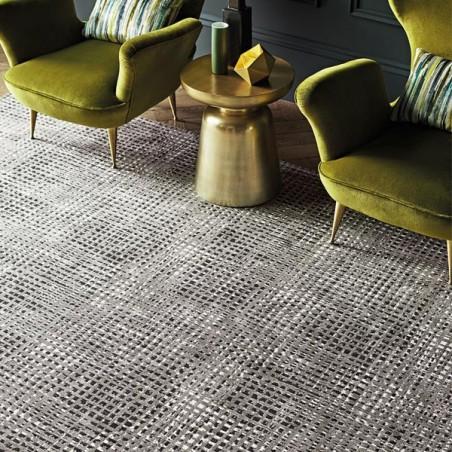 Tapis de salon moderne lazlo charcoal collection romo par Tapis de salon moderne