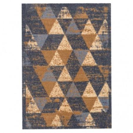 Tapis d'entrée lavable en machine Miabella motifs triangles beige par Tapis Chic collection