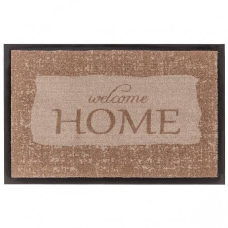 Tapis d'entrée lavable en machine Homelike Welcome marron par Tapis Chic collection