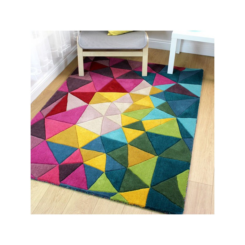Tapis de salon design Falmouth multicolore par Flair Rugs