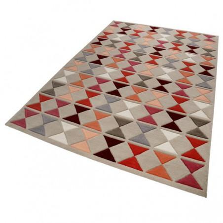 Tapis Design graphique tons orange et gris Mahan par Esprit Home