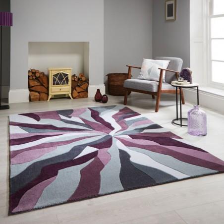 Tapis Design Infinite Violet et Mauve par Flair Rugs