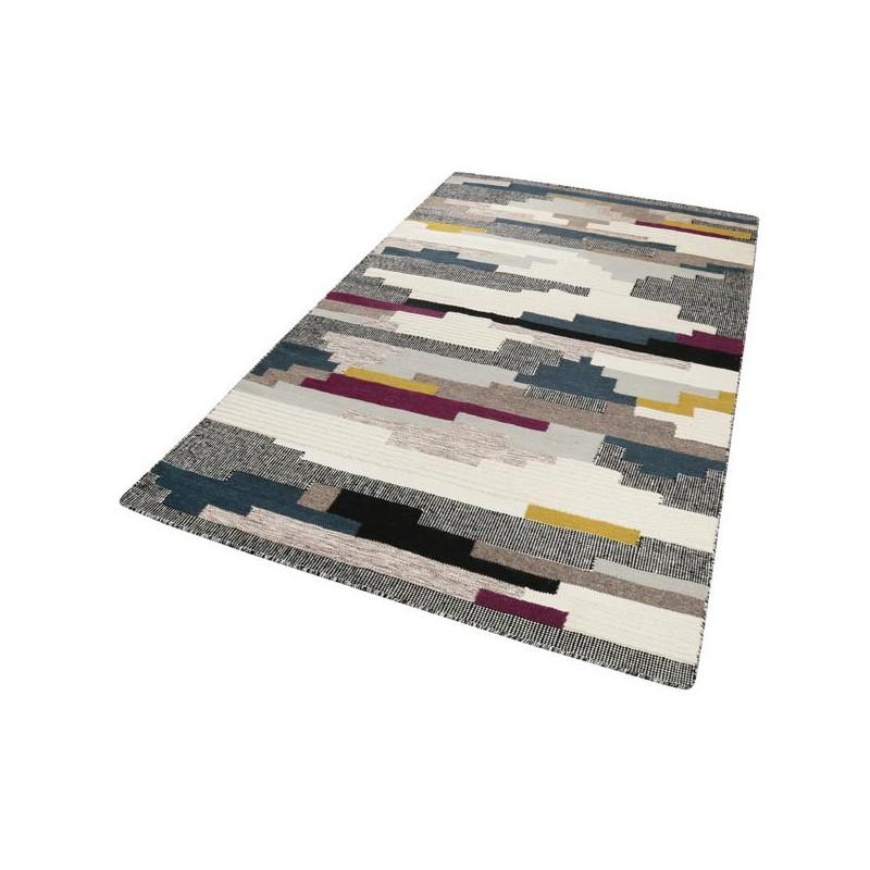 Tapis Salon Nathan Kelim Multicolore Pourpre par Esprit Home