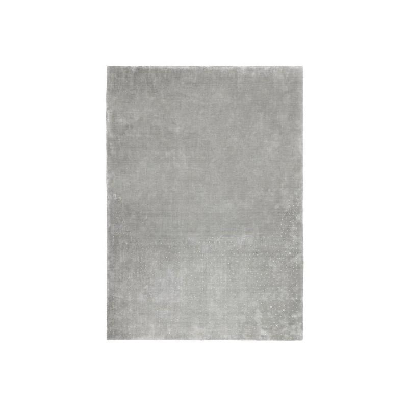 Tapis design tufté main Swarovski Silver par Luxmi
