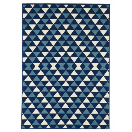 Tapis d'Extérieur Collection Coastal Living Triangles Navy
