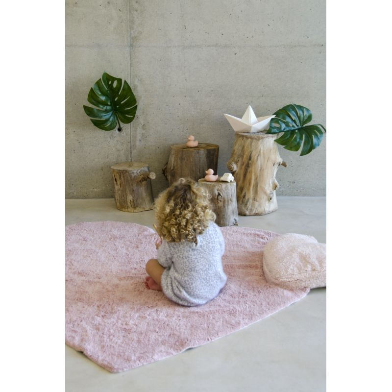 Tapis Lavable Puffy Love Rose