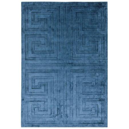 Tapis moderne Narmada bleu