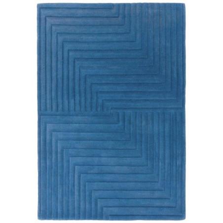 Tapis moderne Léna bleu
