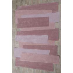 Tapis rose design - Couleurs vives - Tapis Chic