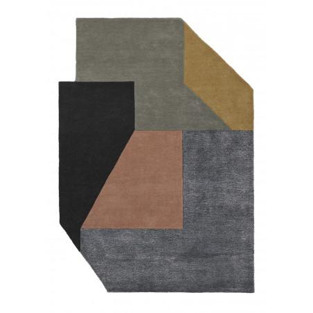 Tapis de salon scandinave forme originale Alton Pastel