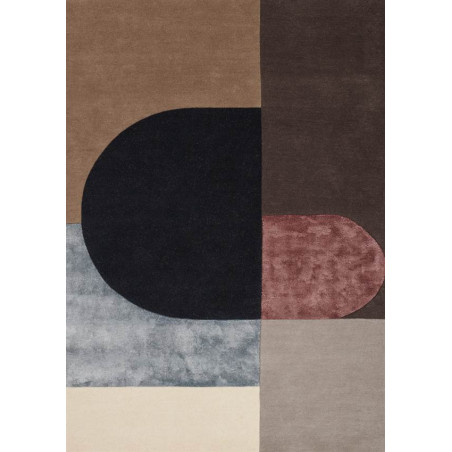 Tapis Design vilja bordeaux