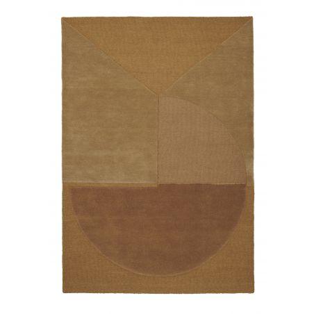 Tapis Design Satomi mustard