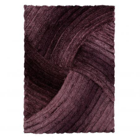 Tapis Design Furrow Purple