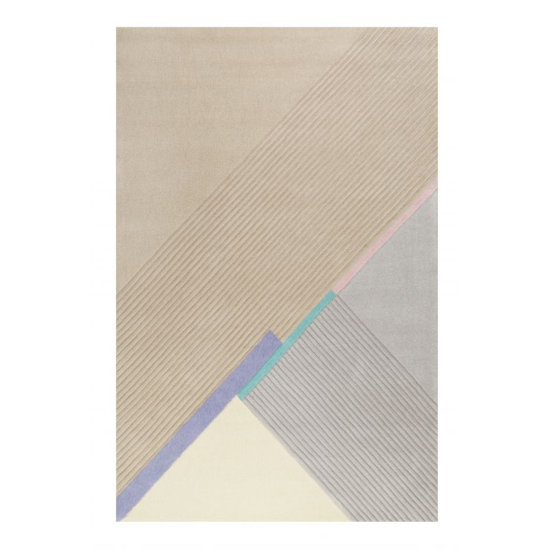 Tapis Design Xaz beige et gris