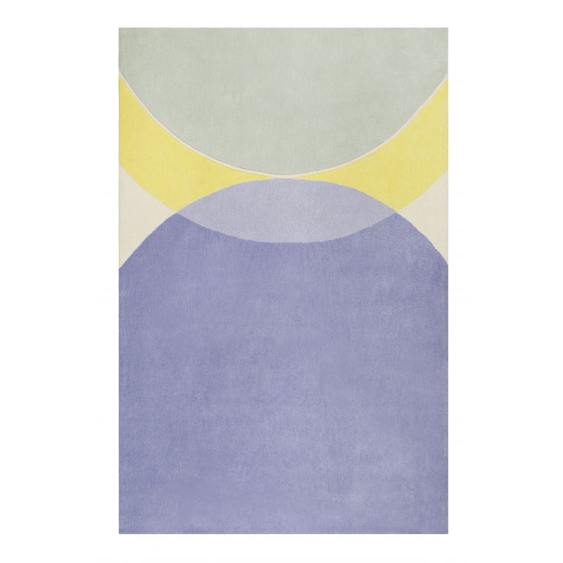 Tapis Design Tavai bleu et jaune