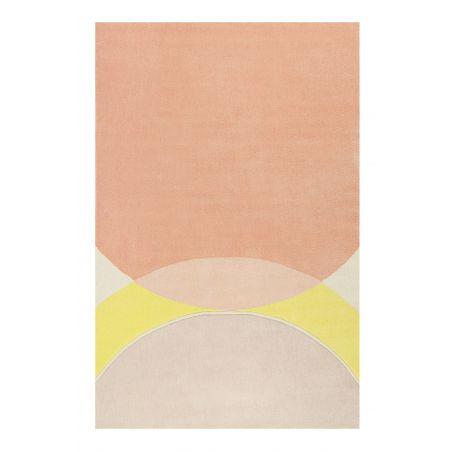 Tapis Design Tavai orange et jaune