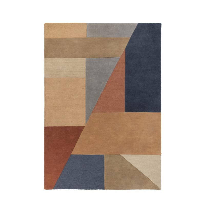 Tapis Design Géométrique Moderno Alwyn multicolore