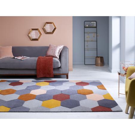 Tapis Design Géométrique Moderno Munro rouille multi