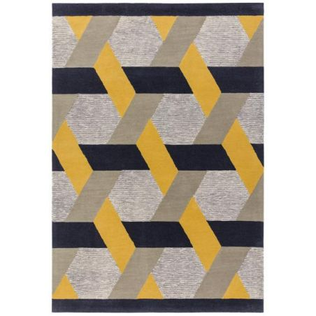 Tapis contemporain Chatelet or