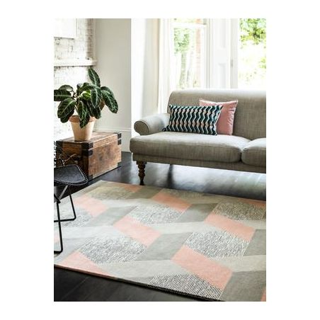 Tapis contemporain Chatelet rose