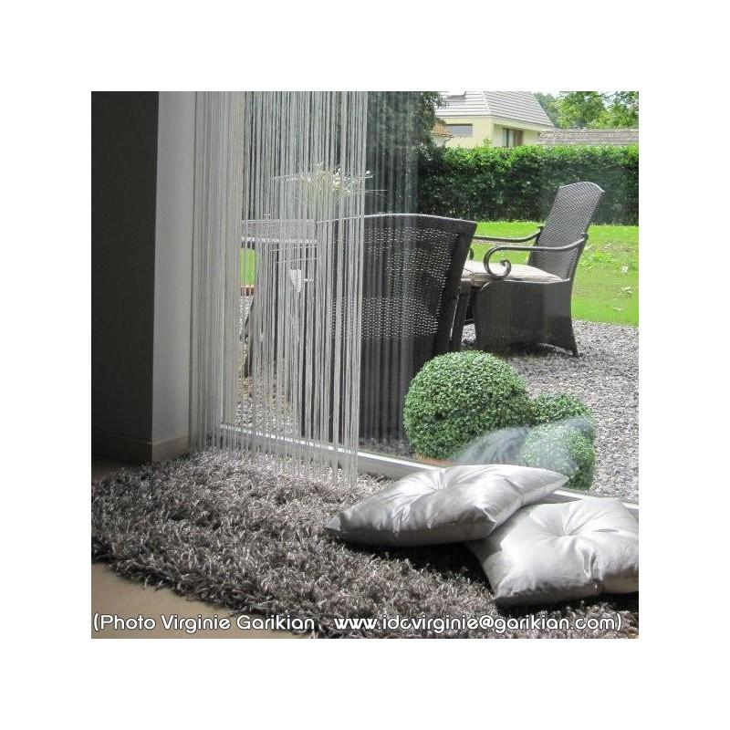 Tapis rectangulaire shaggy gris par Arte Espina