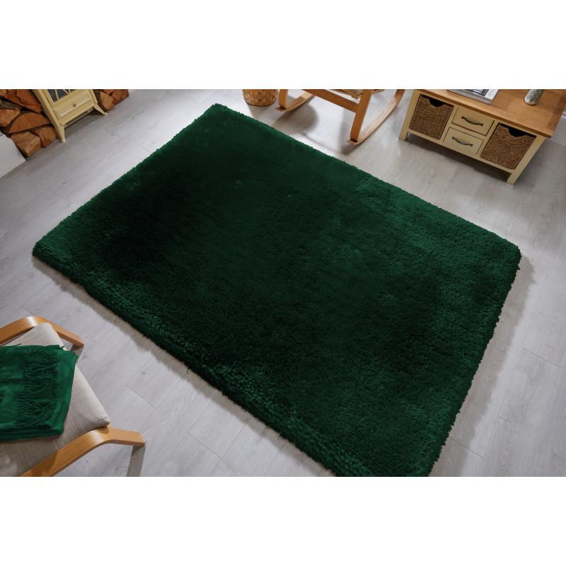 Tapis shaggy en fibre synthétique vert par Flair Rugs