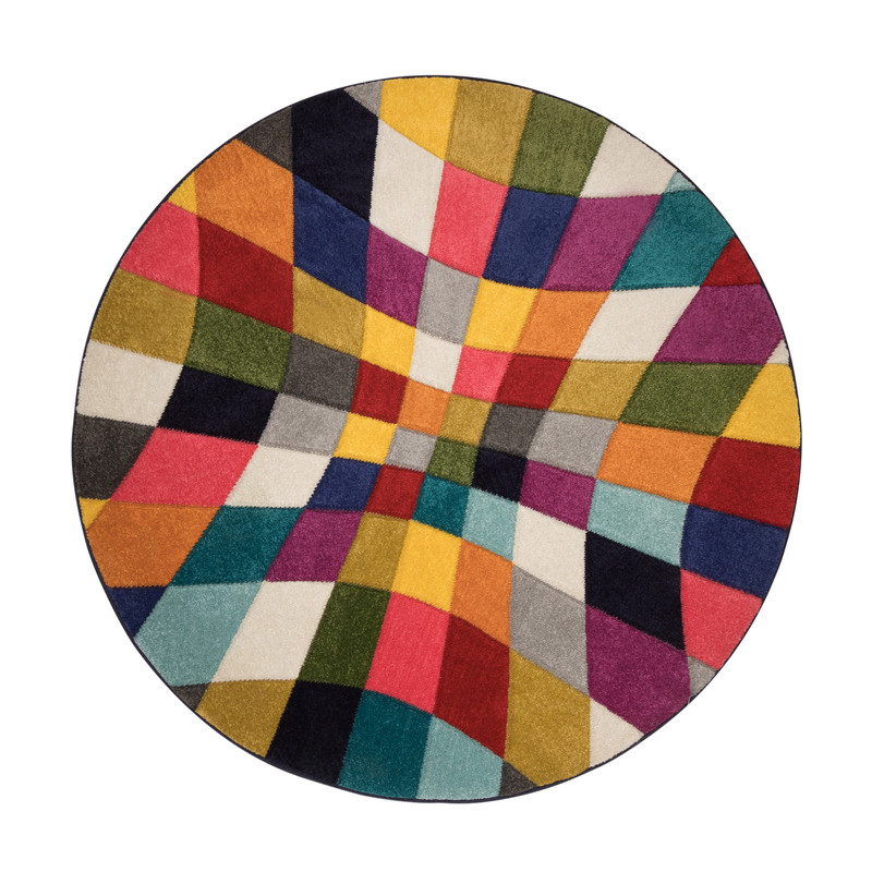 Tapis Design Rond Multicolore Rhumba