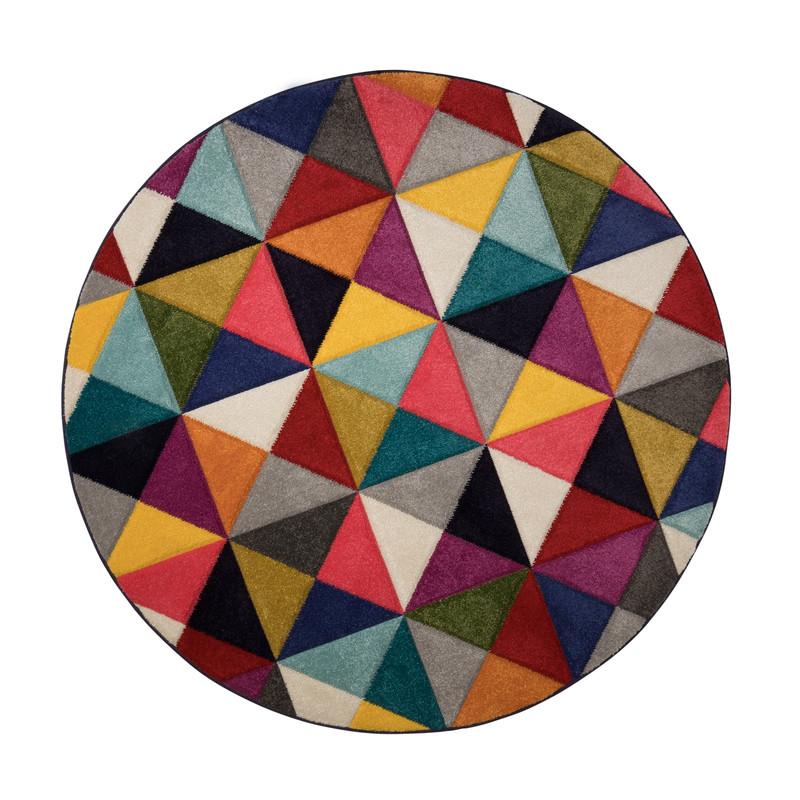 Tapis Design Rond Multicolore Samba