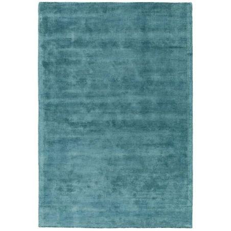 Tapis de salon en fibre naturelle bleue par Jospeh Lebon