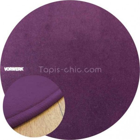 Tapis sur mesure rond Violet par Vorwerk gammeModena