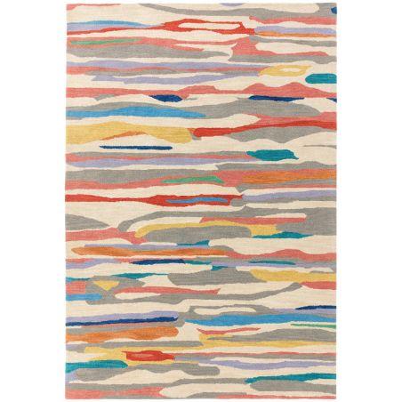 Tapis de salon en laine Design Multicolore Tuileries