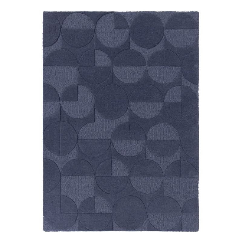 Tapis Design Géométrique Moderno bleu Gigi