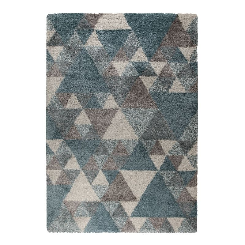 Tapis Design Géométrique Bleu Dakari Nuru