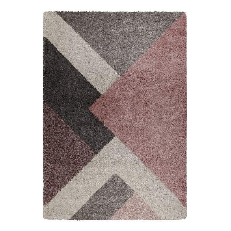 Tapis Design Géométrique Rose Dakari Zula