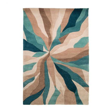 Tapis de salon polyester Design Bleu Canard Infinite