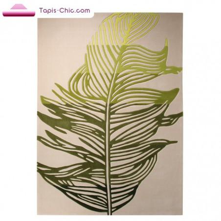 Tapis Feather Ecru et Vert par Esprit Home