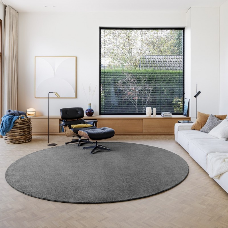 Tapis rond NJORD gris ambiance