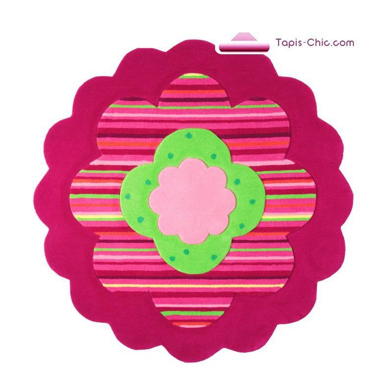 Tapis fleur pour enfant rose de la marque Esprit HOME