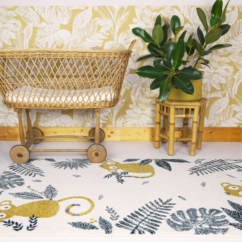 photo d'ambiance tapis monkey paradise miel