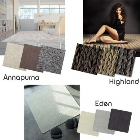 Echantillon de différents tapis Angelo