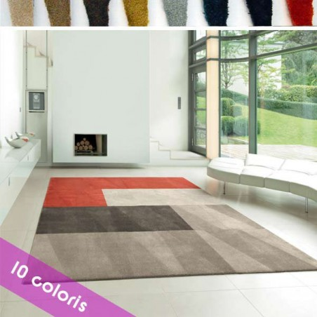 Dalle de tapis design modulable Scale Living forme Cut par Vorwerk