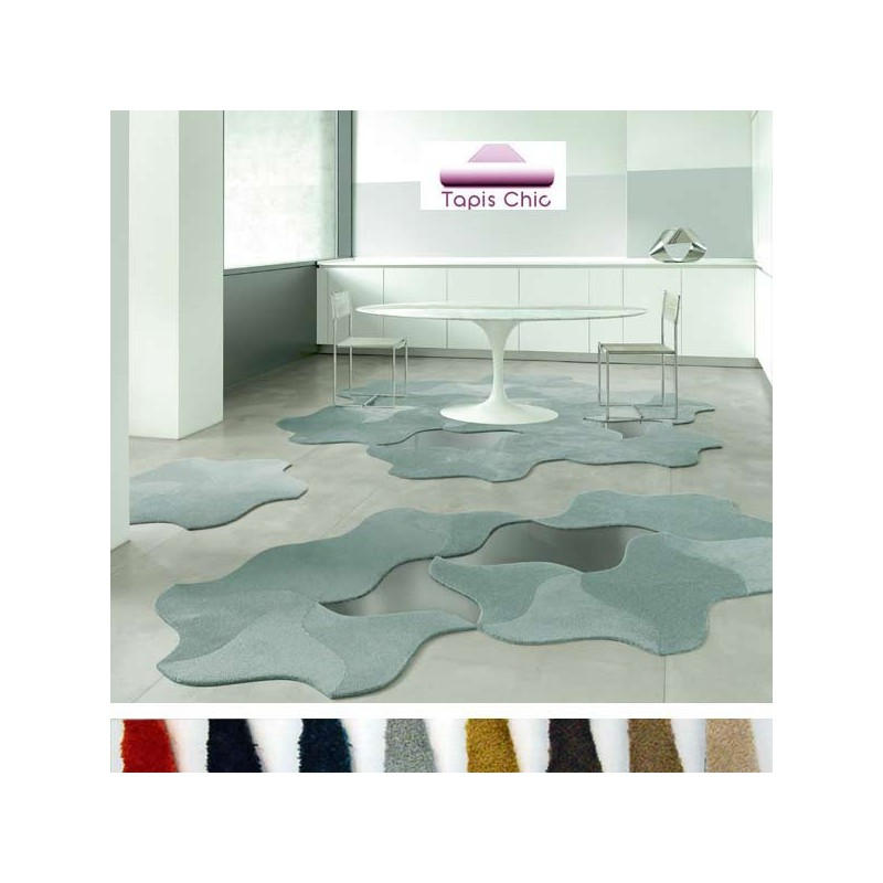 Dalle de tapis design modulable Scale Living forme Bloom par Vorwerk