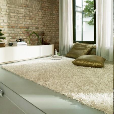 Tapis shaggy blanc ivoire Esprit Home