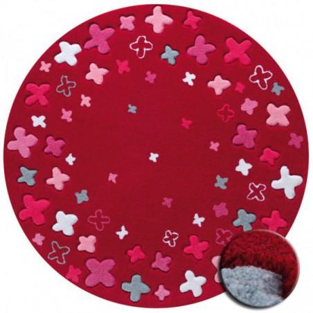 Tapis Rond pour Enfant Bloom Field Rouge par Esprit Home