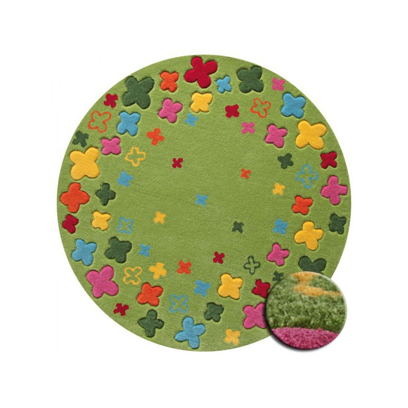 Tapis Rond Pour Enfant Bloom Field Vert Par Esprit Home